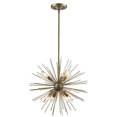 Antonie 7-Light Geometric Pendant Finish: Polished Chrome
