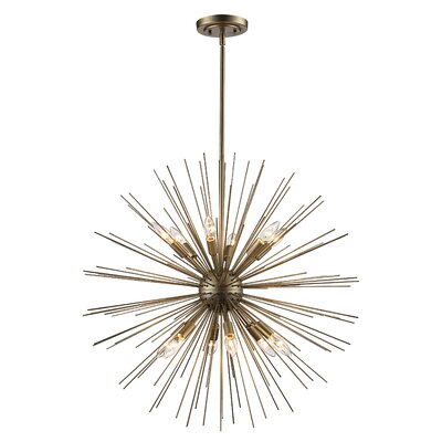 Fort Lauderdale 12-Light Geometric Pendant Finish: Polished Chrome