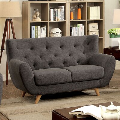 Cleveland Loveseat Finish: Gray