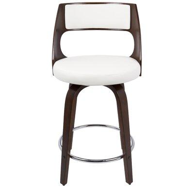 Seraphina 24.5 Swivel Bar Stool Upholstery: White