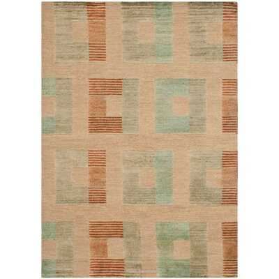 Saint John Hand-Knotted Beige Area Rug Rug Size: Rectangle 6 x 9