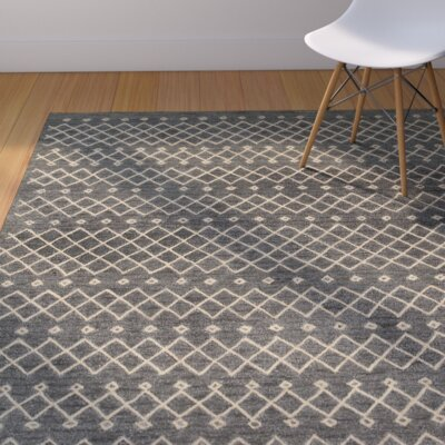 Tacoma Hand-crafted Gray Area Rug Rug Size: 79 x 99