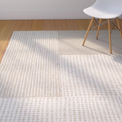 Ming Hand-Woven Gray/Light Brown Area Rug Rug Size: Rectangle 36 x 56