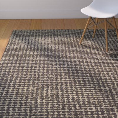 Carlane Hand-Woven Brown Area Rug Rug Size: Rectangle 56 x 8
