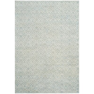 Adel Lake Hand-Knotted Seafoam/Ivory Area Rug Rug Size: Rectangle 6 x 9