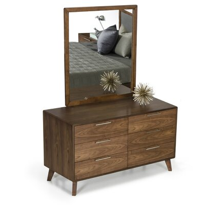 Creek Side 6 Drawer Dresser with Mirror