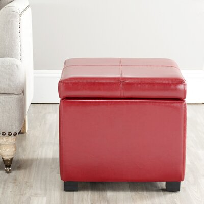 Berriman Storage Ottoman Upholstery: Red