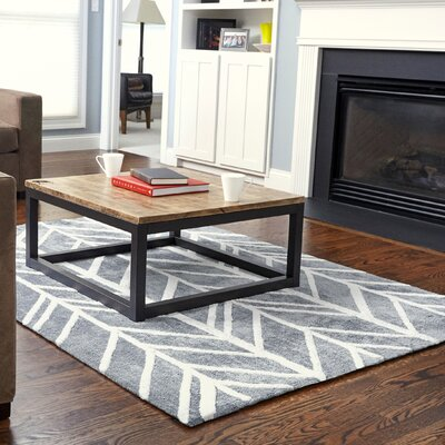 Orkin Gray/Ivory Area Rug Rug Size: 9 x 12