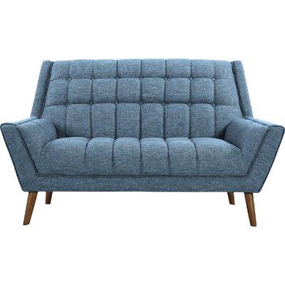 Demesne Mid-Century Modern Loveseat Upholstery: Blue