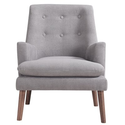 Dashiell Fabric Armchair Upholstery: Gray