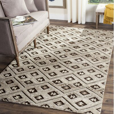 Anson Hand-Knotted Gray Area Rug