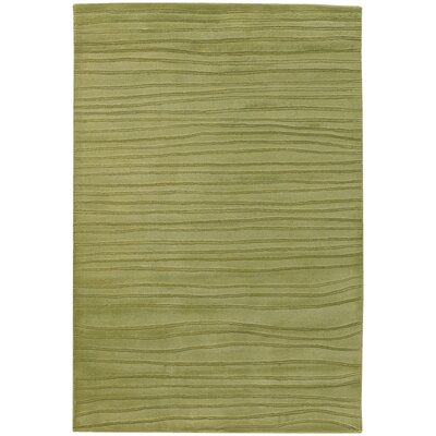 Olea Hand Tufted Wool Green Area Rug Rug Size: Round 79