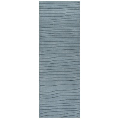 Olea Hand Tufted R Contemporary Blue Area Rug Rug Size: 26 x 76