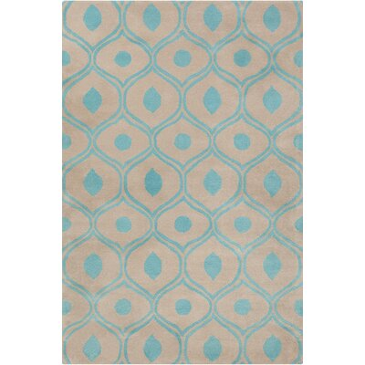 Willa Hand Tufted Wool Beige/Blue Area Rug