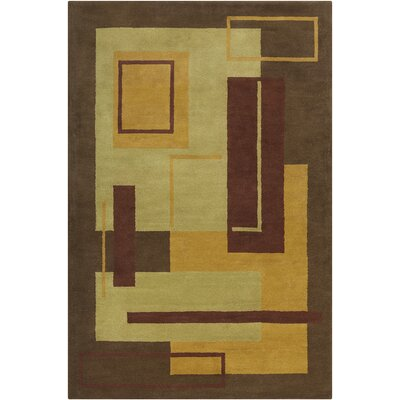 Willa Hand Tufted Wool Brown/Green Area Rug