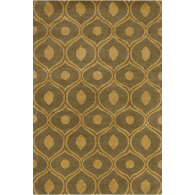 Willa Hand Tufted Wool Tan/Yellow Area Rug Rug Size: 5 x 76