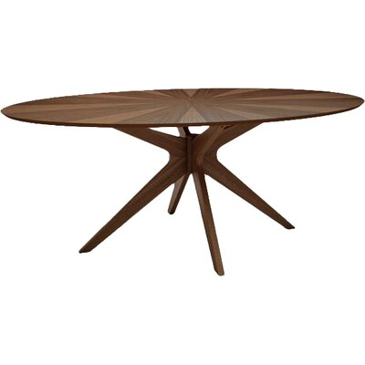 Sheryl Dining Table Finish: Walnut