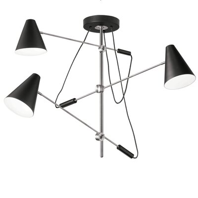 Livia 3-Light Geometric Pendant Finish: Polished Chrome
