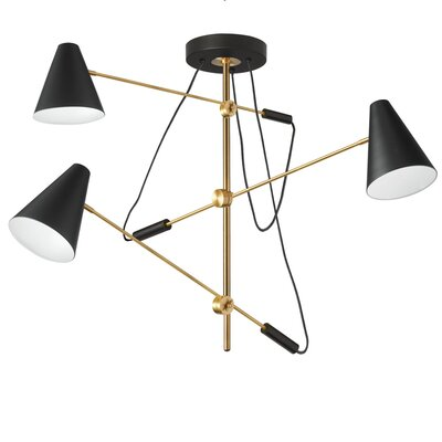 Livia 3-Light Geometric Pendant Finish: Vintage Bronze
