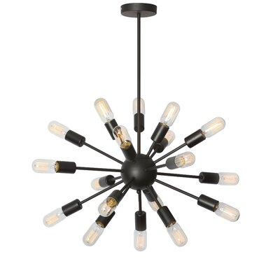 Valentina 18-Light Cluster Pendant Finish: Matte Black