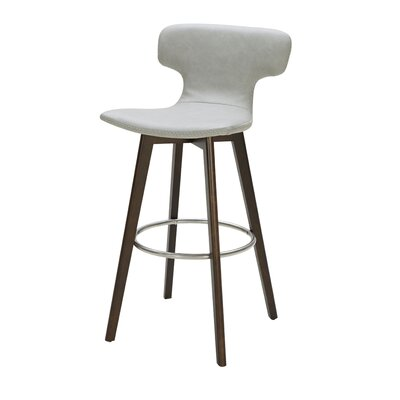 Petrolia 30 Bar Stool Upholstery: Gray