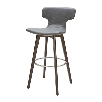 Petrolia 30 Bar Stool Upholstery: Dark Gray