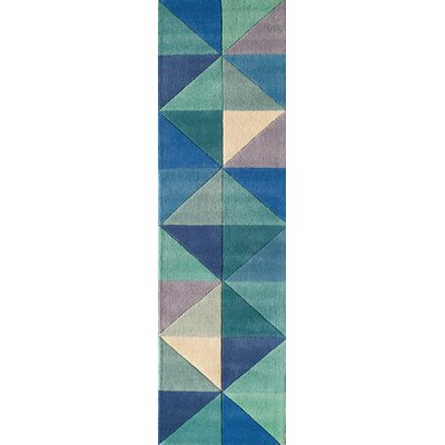 Carmel Hand-Tufted Blue Area Rug Rug Size: Rectangle 36 x 56