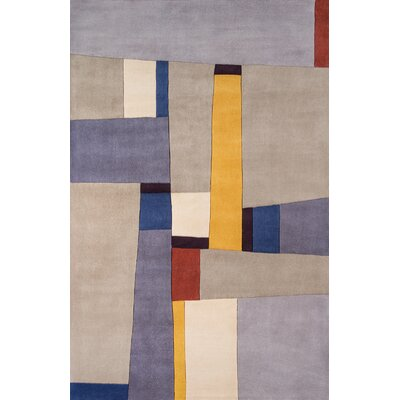 Reno Hand-Tufted Yellow Area Rug Rug Size: 76 x 96