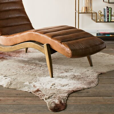 Lorain Light Brindle Tan Cowhide Rug Rug Size: 6 x 6