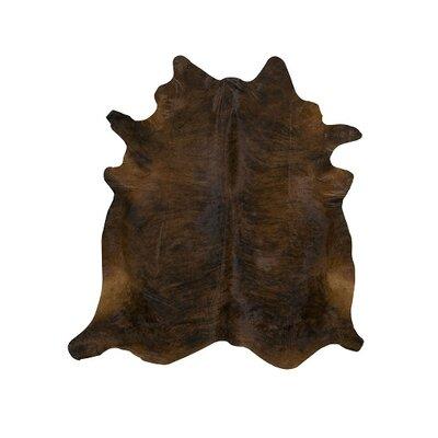 Dorinda Dark Brindle Cowhide Rug Size: 6 x 6