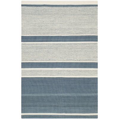 Tricia Hand-Woven Cotton Area Rug Rug Size: Rectangle 5 x 8