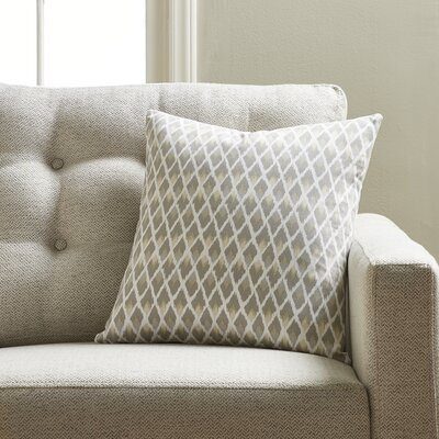 Jeffery Throw Pillow Color: Pewter