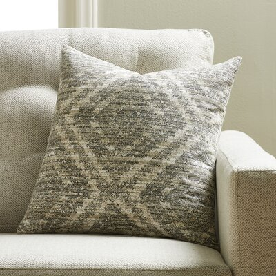Aird Throw Pillow Color: Pewter
