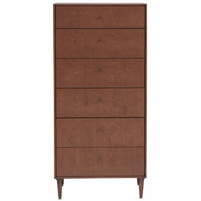 Bounds 6 Drawer Chest Color: Toffee, Wood Veneer: Cherry