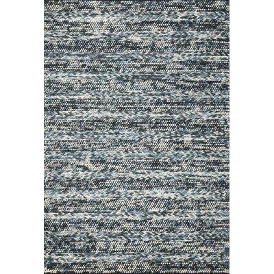 Ambridge Hand-Woven Wool Azure Area Rug Rug Size: 33 x 53