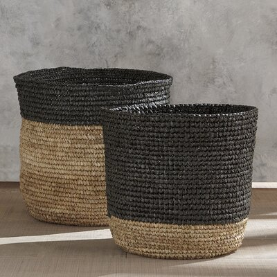 Color Block Seagrass Basket