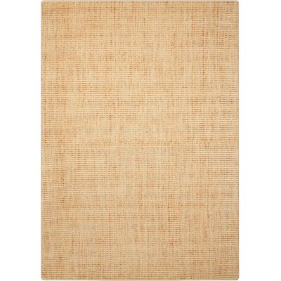 Spartacus Hand-Woven Wheat Area Rug Rug Size: Rectangle 53 x 75