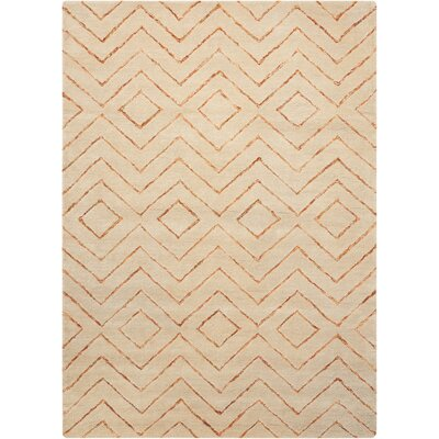 Spartacus Hand-Woven Sand Area Rug Rug Size: Rectangle 53 x 75