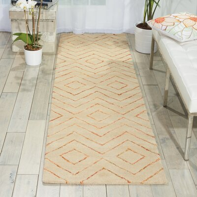 Spartacus Hand-Woven Sand Area Rug Rug Size: Runner 23 x 8