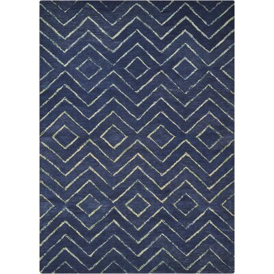 Spartacus Hand-Woven Blue Area Rug Rug Size: Rectangle 53 x 75