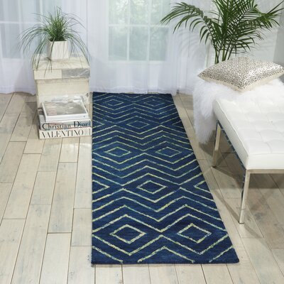 Spartacus Hand-Woven Blue Area Rug Rug Size: Runner 23 x 8