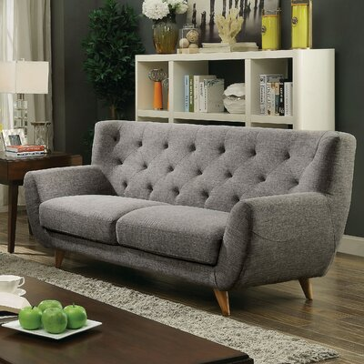 Cleveland Loveseat Finish: Light Gray