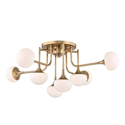 Aldred Lake 8-Light Semi Flush Mount Finish: Aged Brass