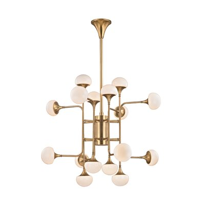 Aldred Lake 16-Light Sputnik Chandelier Finish: Aged Brass