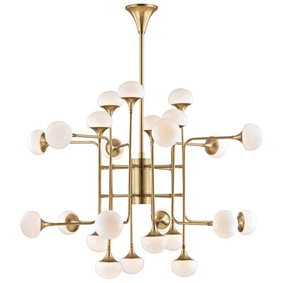 Alongi 24-Light Sputnik Chandelier Finish: Aged Brass