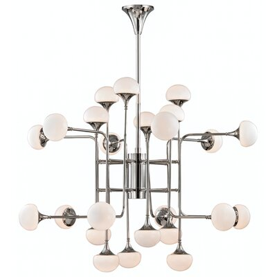 Aldred Lake 24-Light Sputnik Chandelier Finish: Polished Nickel