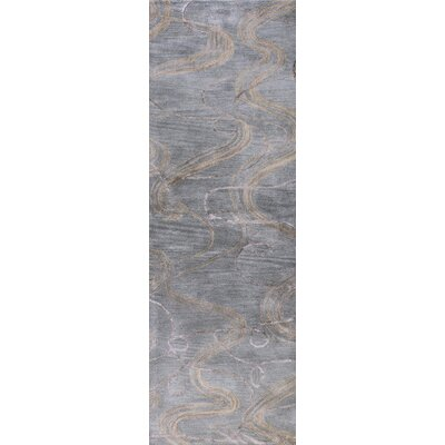 Araby Hand-Tufted Slate Blue Area Rug Rug Size: Runner 26 x 8