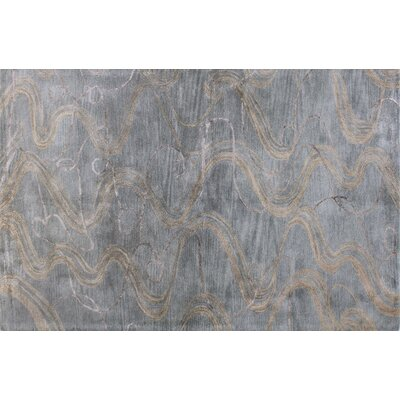 Araby Hand-Tufted Slate Blue Area Rug Rug Size: 56 x 86
