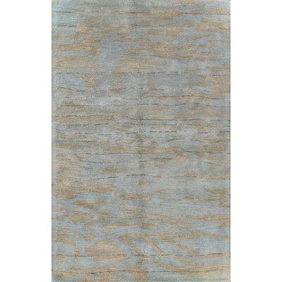 Arcada Hand-Tufted Slate Area Rug Rug Size: 56 x 86