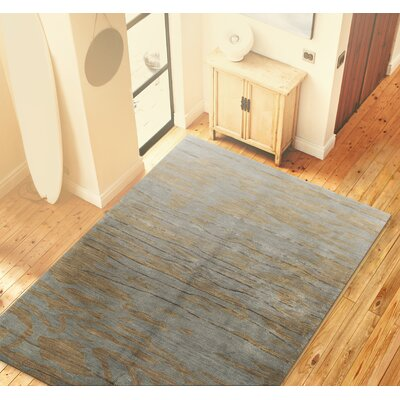 Arcada Wool Slate Area Rug Rug Size: 39 x 59